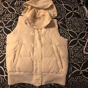 Banana Republic white winter vest